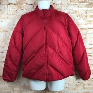 J Crew Large Quilted Down Puffer Coat Jacket Vest